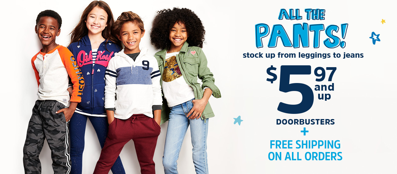 ALL THE PANTS! stock up from leggings to jeans | $5.97 and up DOORBUSTERS + FREE SHIPPING ON ALL ORDERS