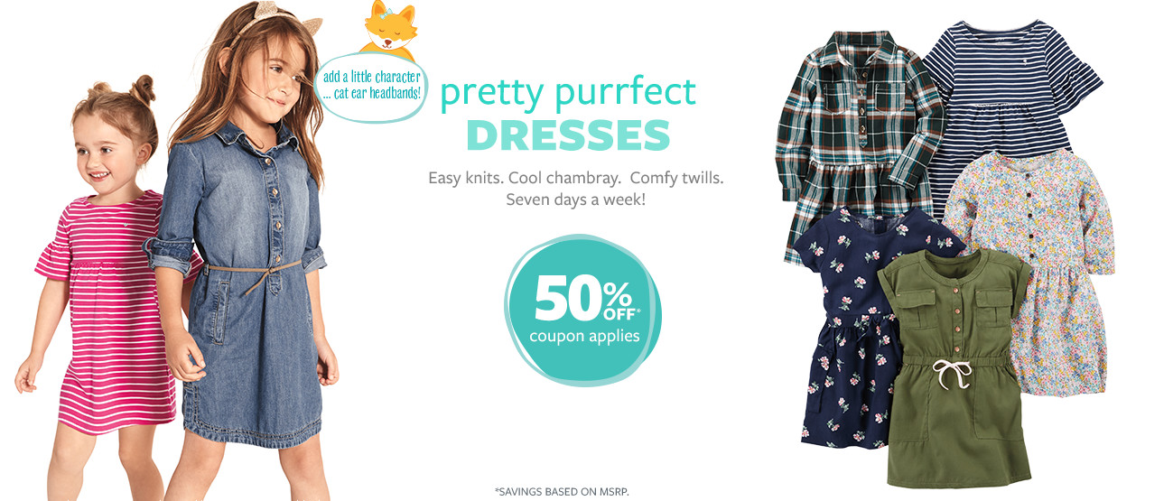 50% Off | Coupon Applies | Pretty purrfect dresses! *Savings based on msrp