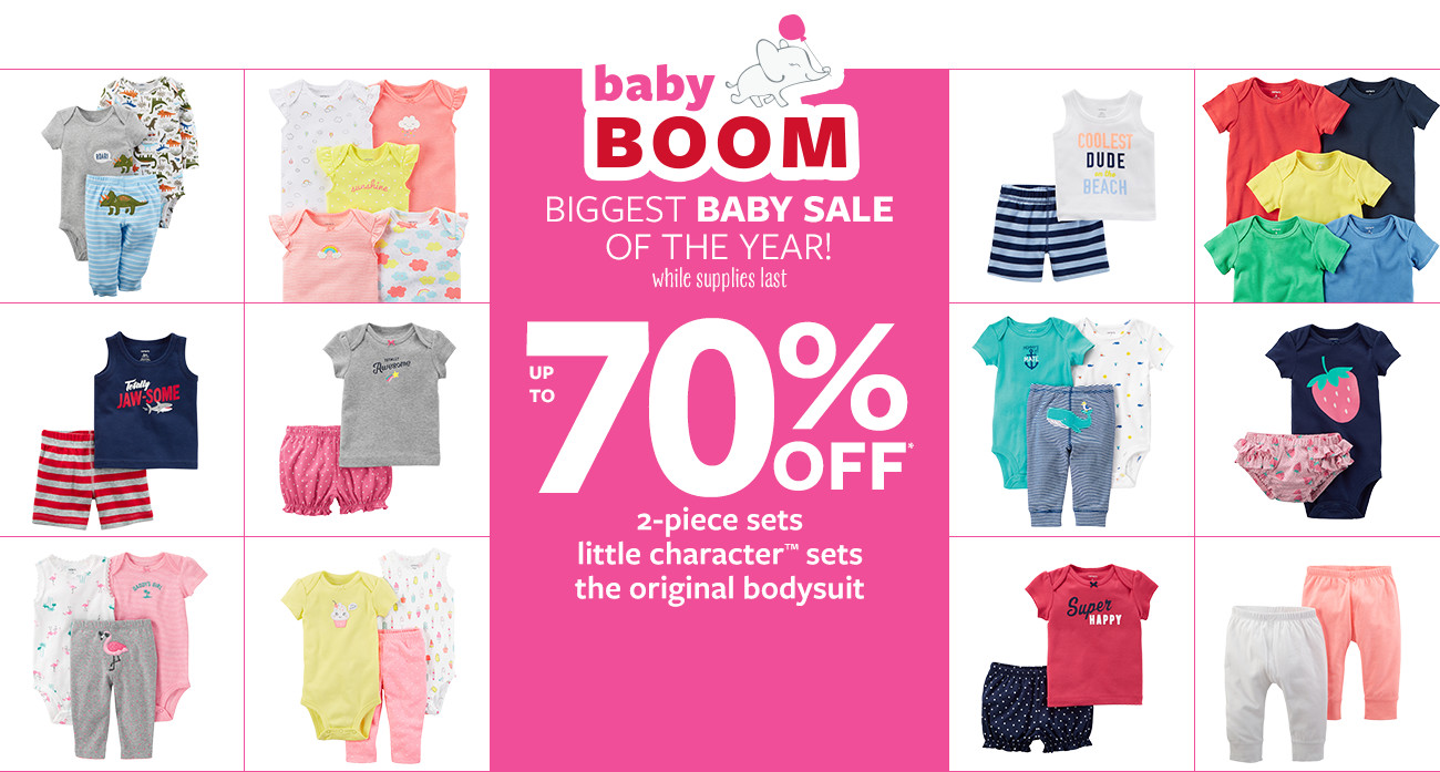 baby boom | up to 70% off msrp | biggest baby sale of the year! while supplies last