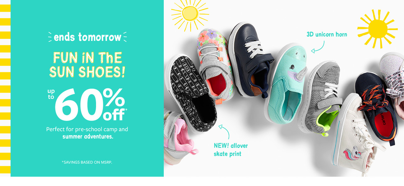 1943d2e5aab508 ends tomorrow fun in the sun shoes! up to 60% msrp