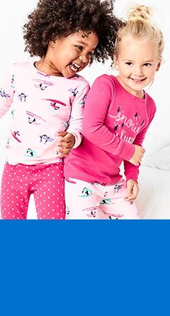 four-piece pajamas   sizes 2t-5t