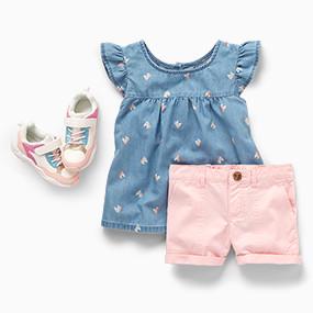 85131ab60 Toddler Girls Clothing | Carter's | Free Shipping
