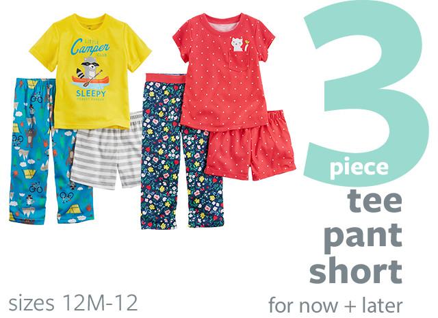 PJ Shop - 3 Piece - Tee | Pant | Short