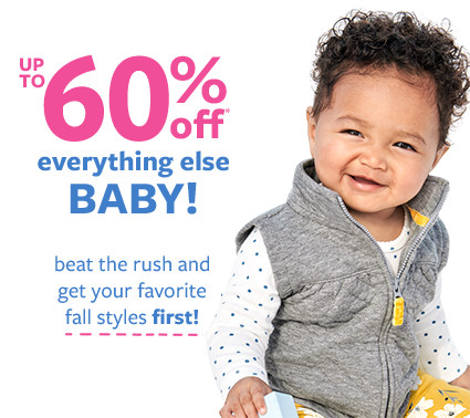 up to 60% off msrp everything else baby!