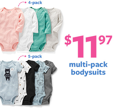 $11.97 multi-pack bodysuits