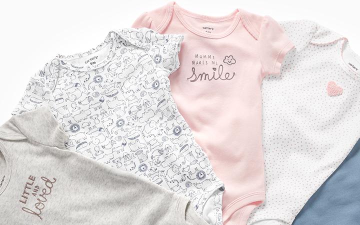 Kitty Love Bodysuits Carters Baby Girls 5-pk