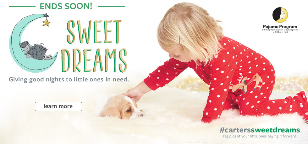 Ends Soon! Sweet Dreams Pajama Program | Click to Learn More