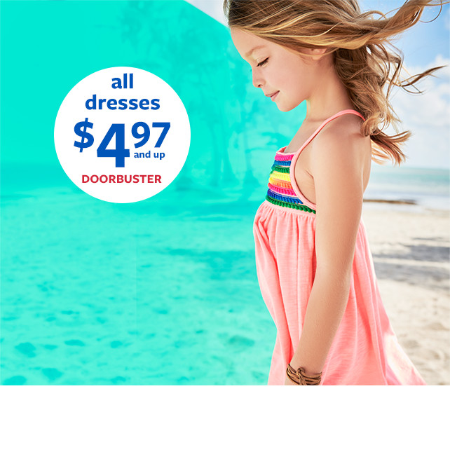 all dresses $4.97 and up doorbuster