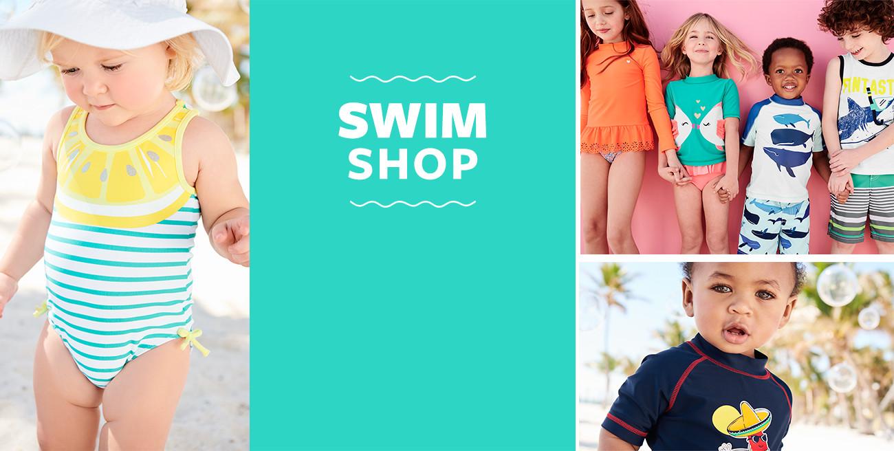 the swim shop | boys, girls + oshkosh too! | sizes 3m-8 | upf 50+ protection