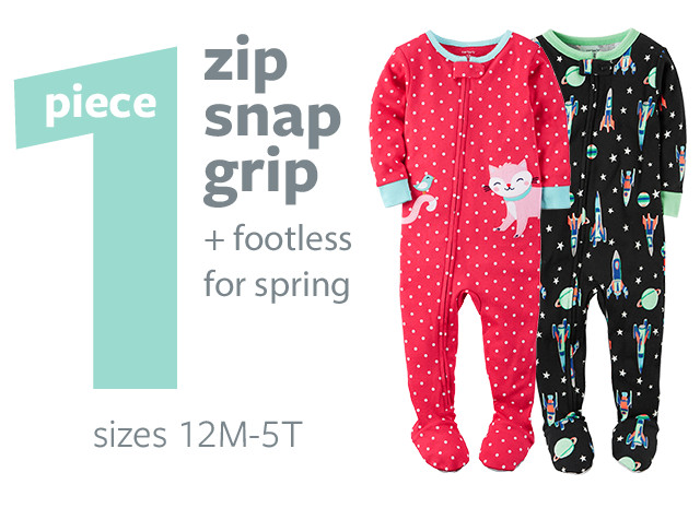 PJ Shop - 1 Piece Zip Snap Grip