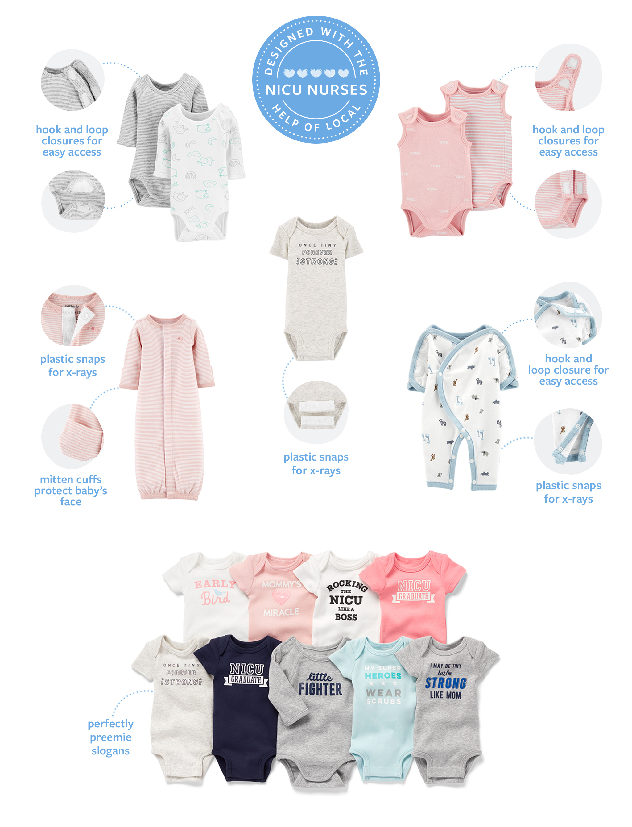371afbb9a Preemie Landing Page | Carter's | Free Shipping