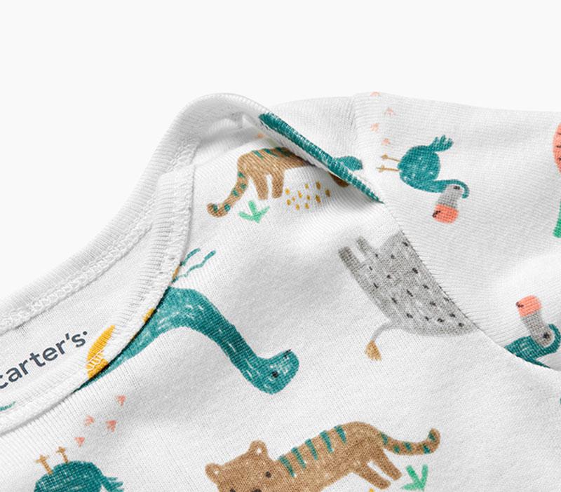 One Word Slogans NWT Carters Infants 5-Pack Short-Sleeve Original Bodysuits