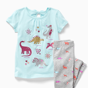 12 Months Carter/'s Baby Girls Animal Print 2 Piece Pajama Set Size 6-9 Months