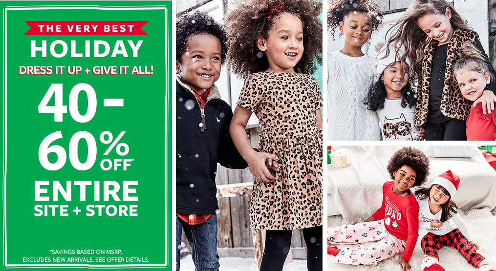 the very best holiday | 40-60% off msrp entire site + store