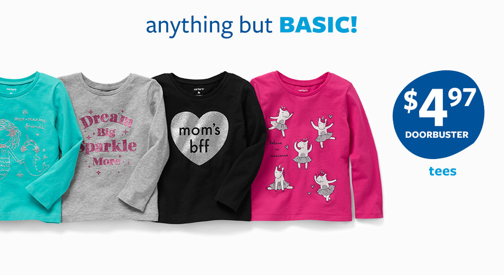 anything but basic tees $4.97 an up doorbuster