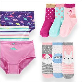 toddler girl socks + undies