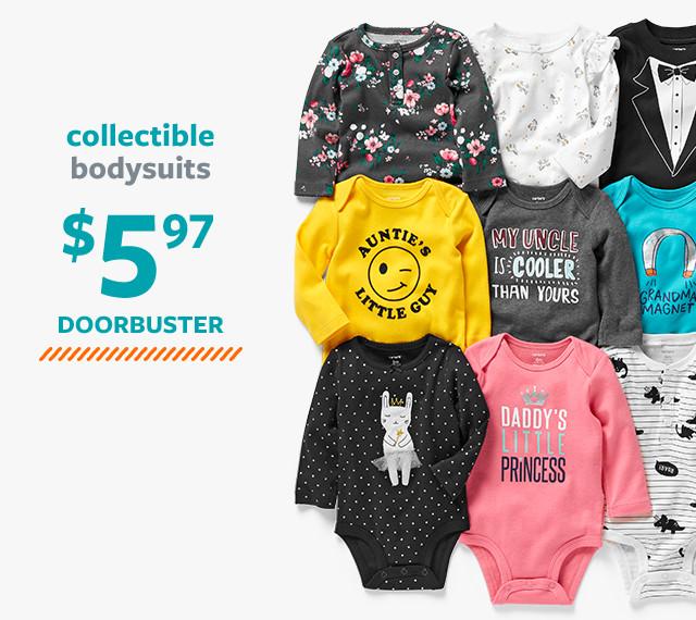 collectible bodysuits $5.97 doorbuster