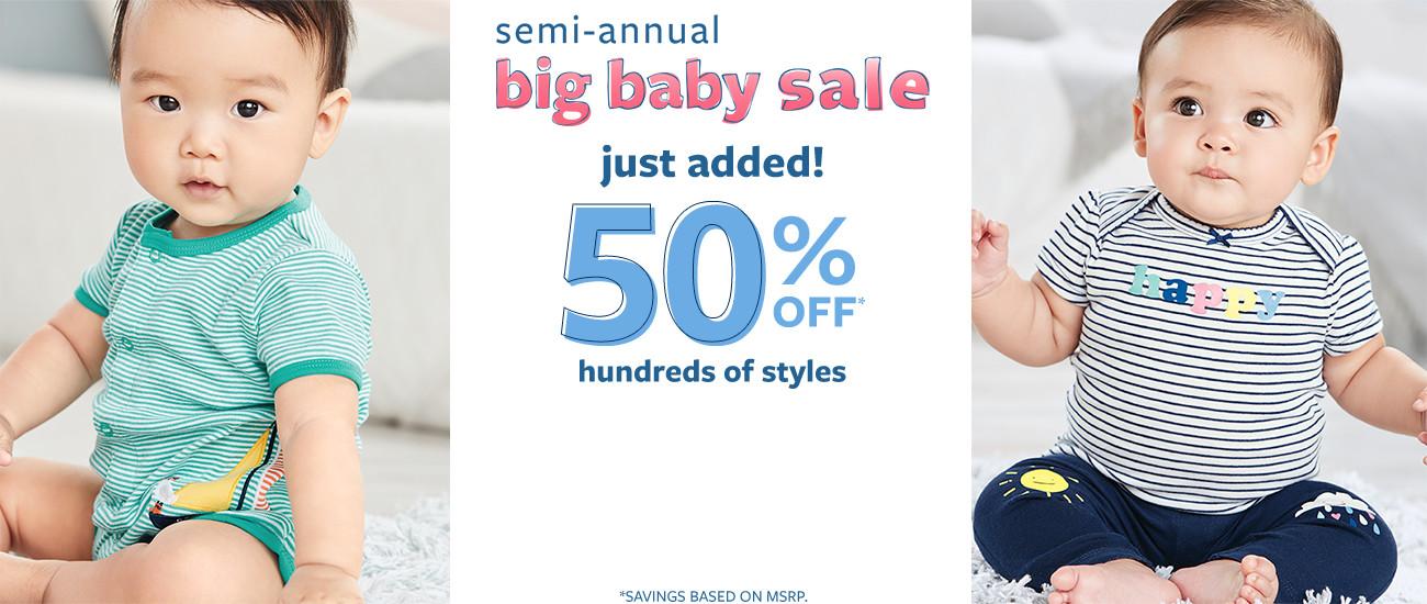 полугодичная продажа большого ребенка | только что добавлен! 50% msrp от сотен стилей