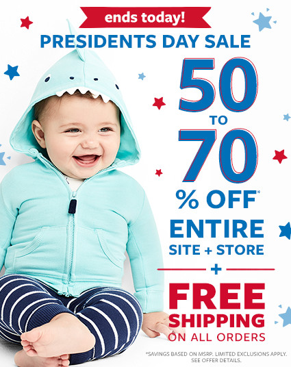 ends today | be first. get the best! presidents day sale | 50 to 70% off msrp entire site + store