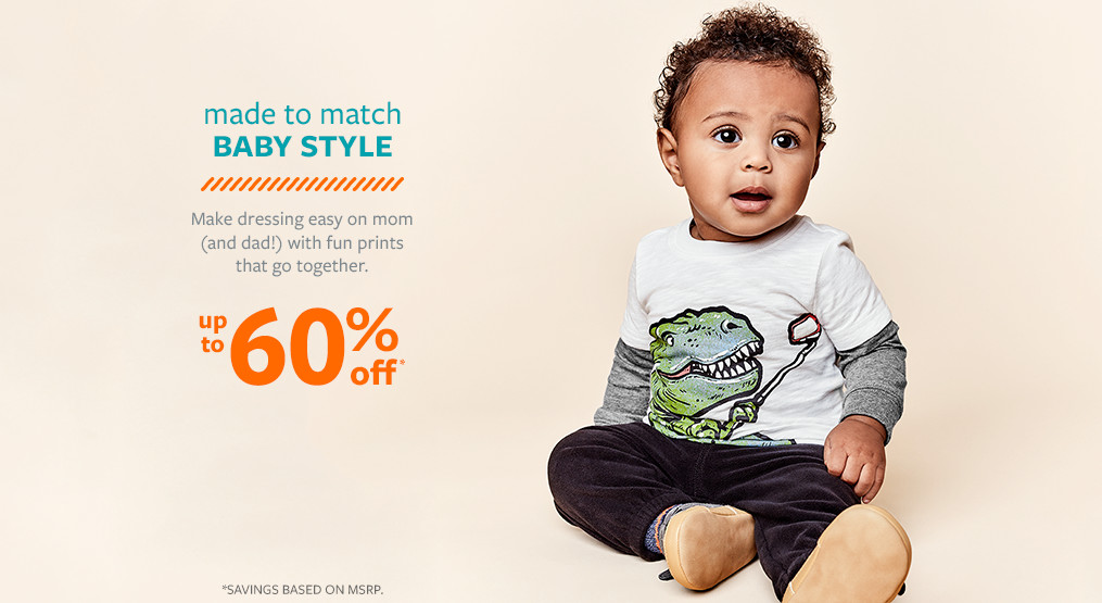 made to match baby style! up to 60% off msrp