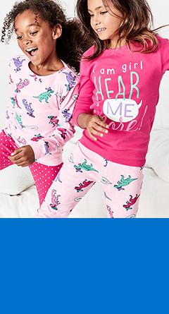 kid girl four-piece pajamas    / sizes 4-14