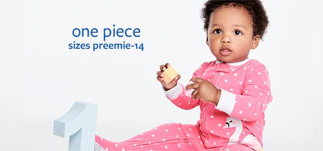 one piece   sizes preemie-12