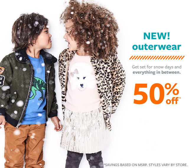 new outerwear 50% off msrp