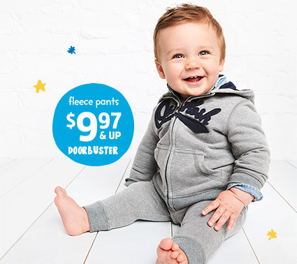 fleece pants $9.97 & UP DOORBUSTER