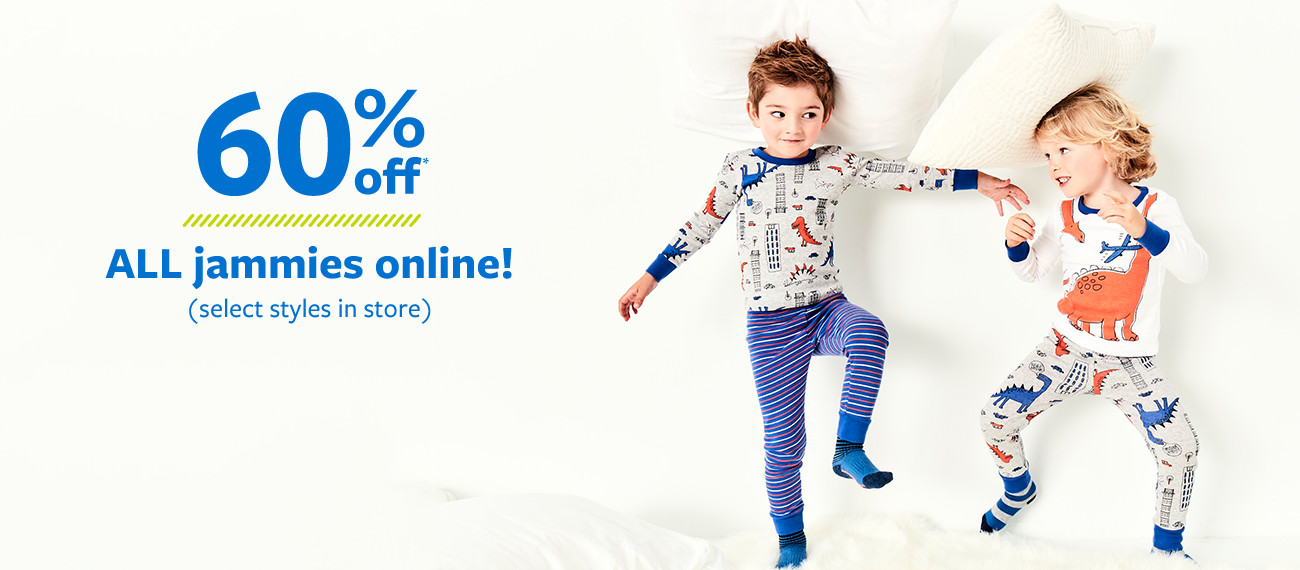 60% off msrp all jammies online