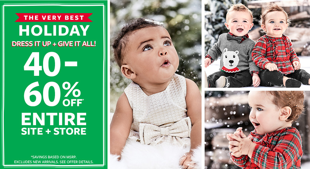 the very best holiday   40-60% off msrp entire site + store