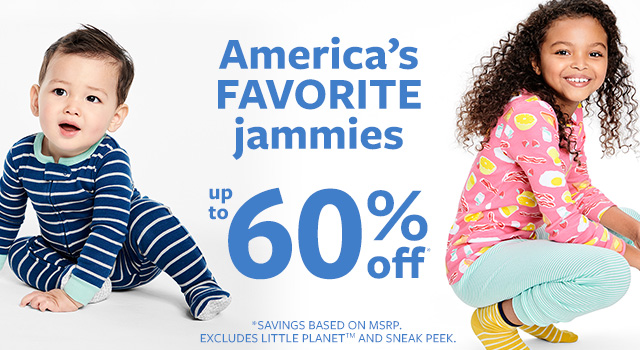 americas favorite jammies up to 60% off msrp