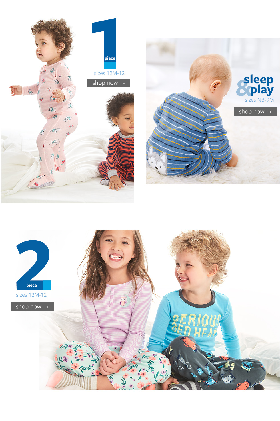 PJ Shop - 1 Piece, 2 Piece, Sleep and Play