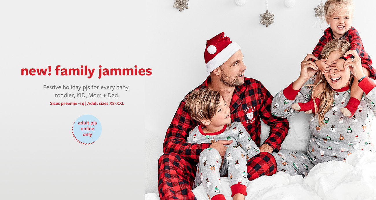 new! family jammies | Festive holiday pjs for every baby, toddler, KID, Mom + Dad. Sizes preemie-14 | Adult sizes XS-XXL | adult PJs online only