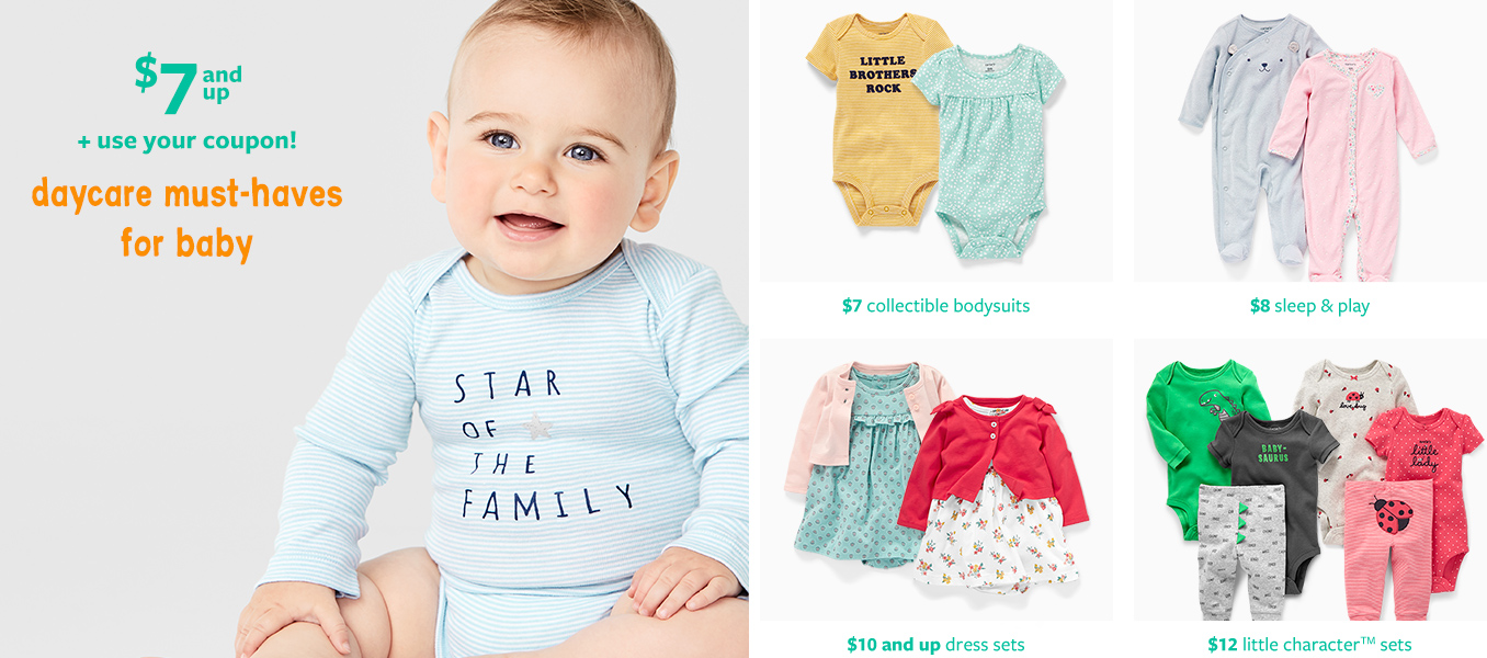 5a34ac8374ec Baby Clothing, Kids Clothes, Toddler Clothes | Carter's