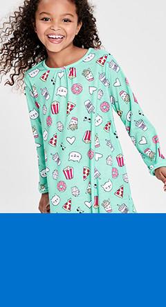 kid girl sleep gowns  / sizes 4-14