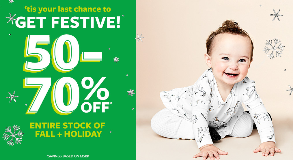 tis your last chance to get festive! 50-70% off msrp entire stock of fall + holiday