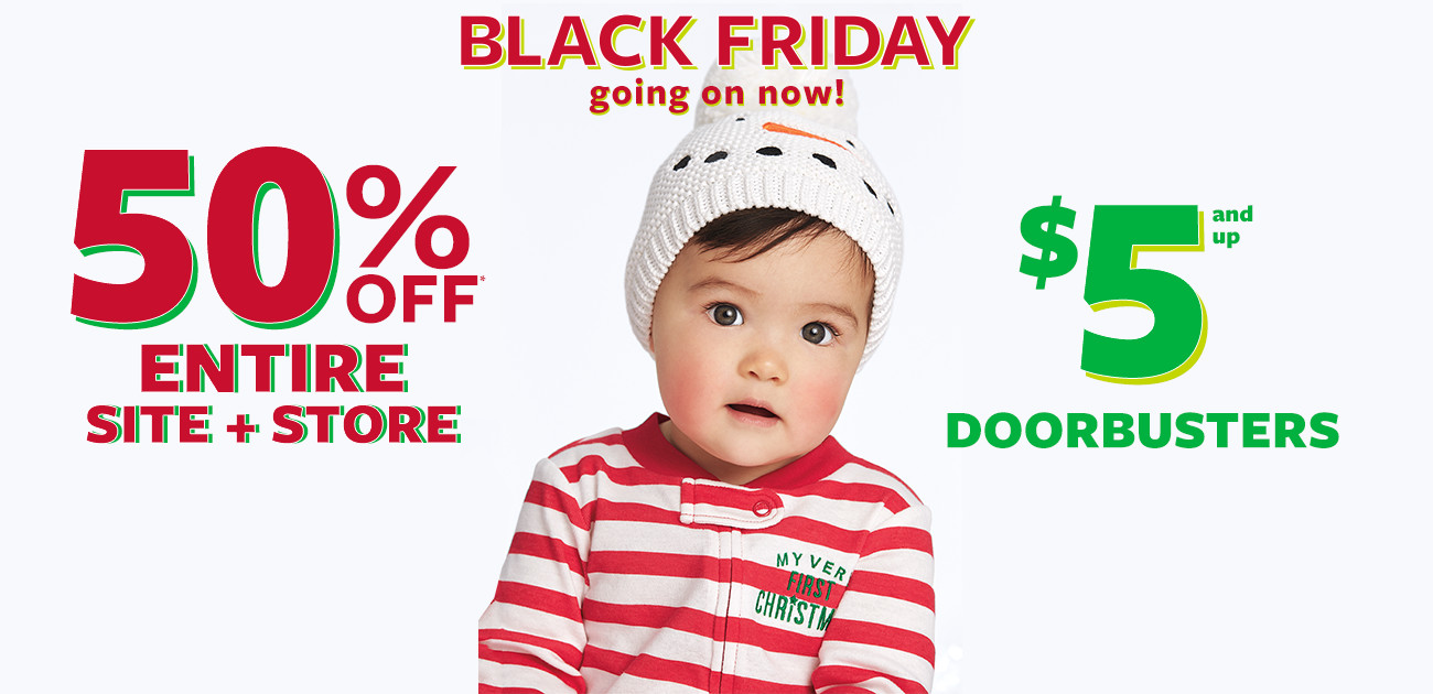 Carters Black Friday Sale: 50% Off Sitewide