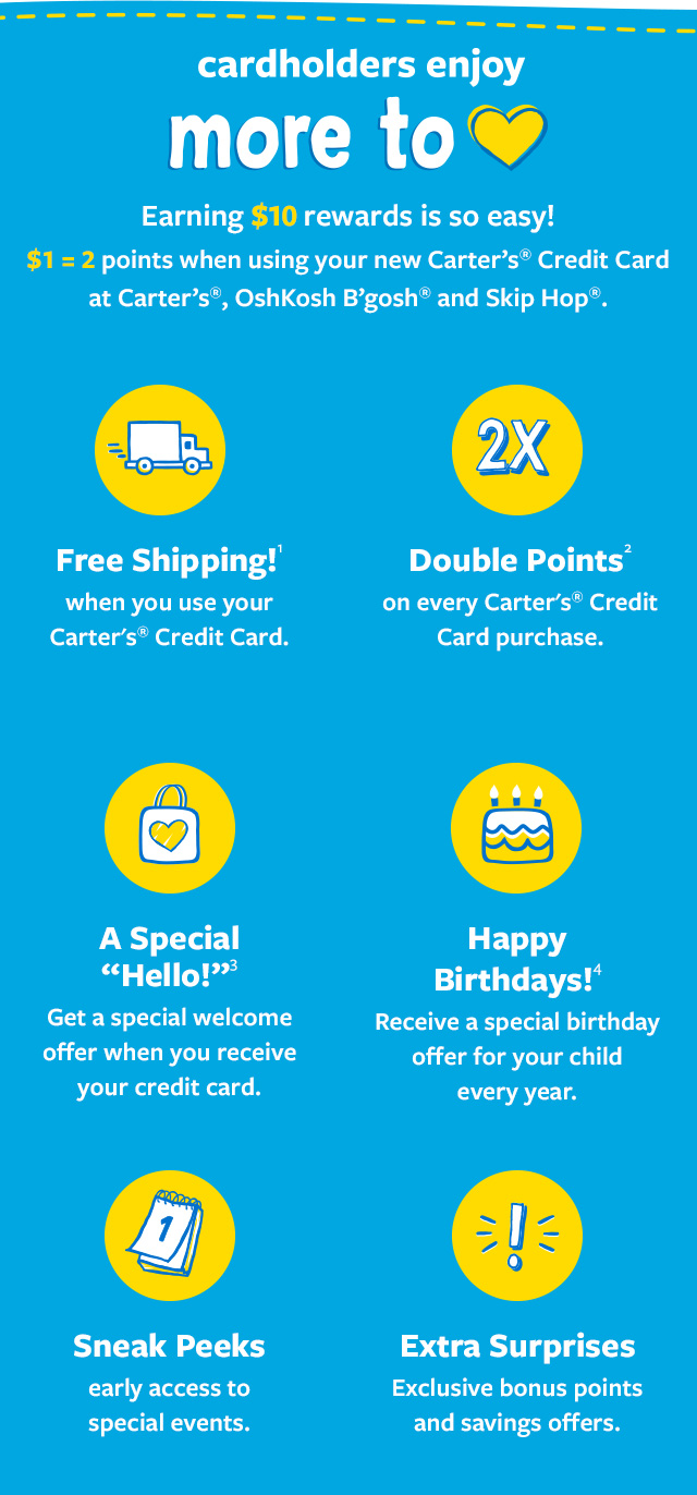 New To You >> Carter S Credit Card