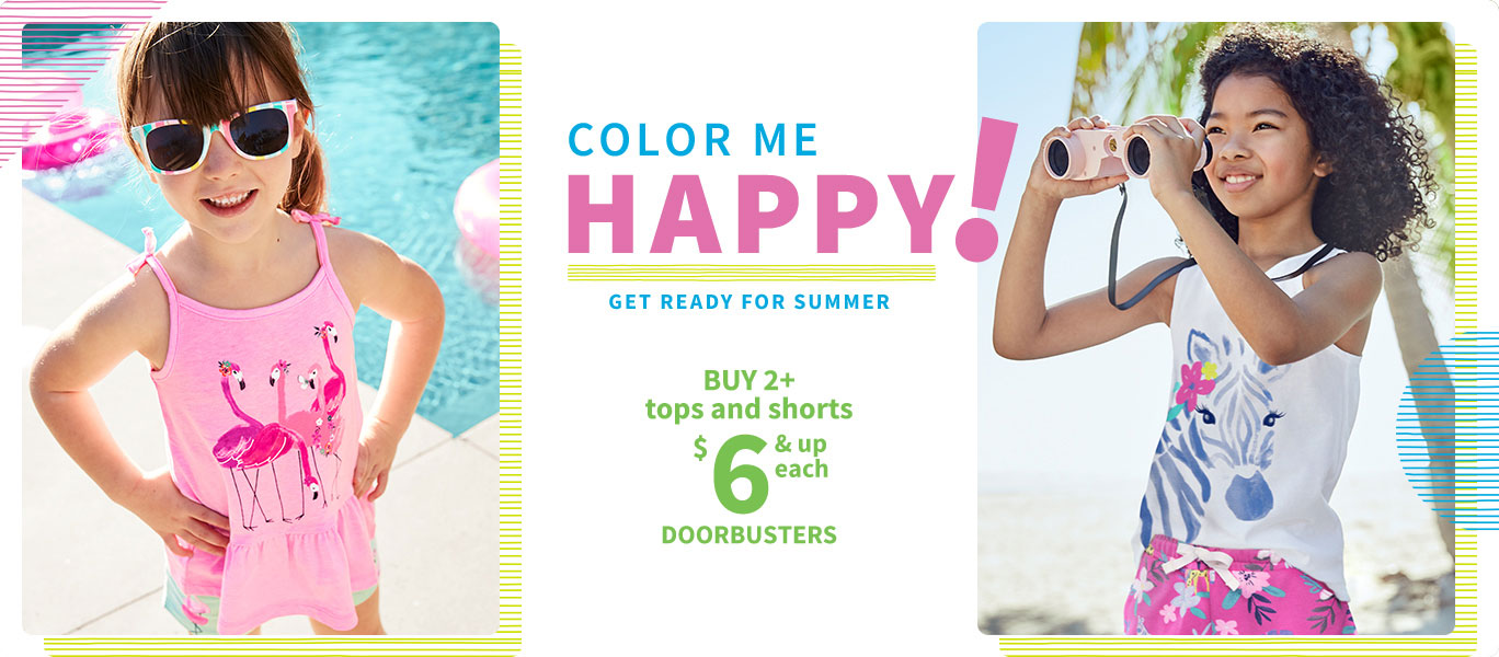 COLOR ME HAPPY! GET READY FOR SUMMER | BUY 2+ tops and shorts $6 & up each DOORBUSTERS --HERO