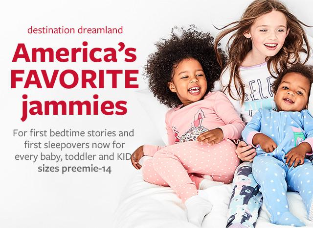 Destination Dreamland - America's Favorite Jammies| Sizes preemie - 14