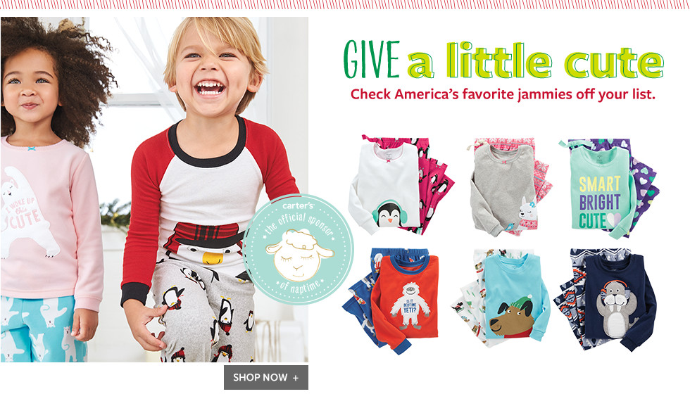 Give a little cute - Check America's favorite jammies off your list.