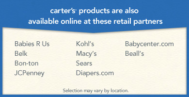 Carter's products are also available online at these retail partners