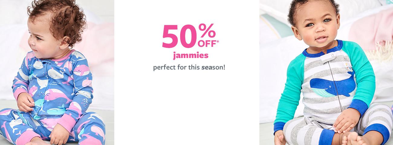 50% off msrp jammies