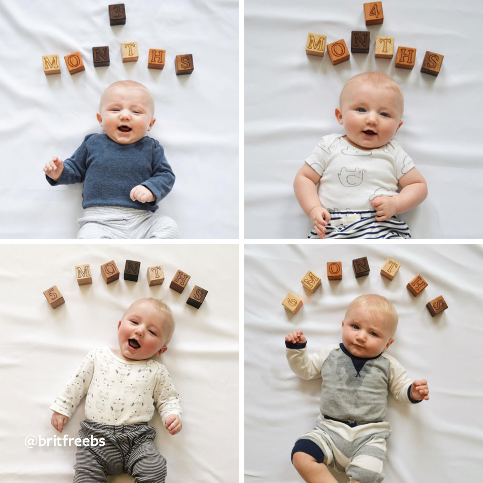 12 Sweet And Simple Milestone Photo Ideas For Your Baby S First Year Carter S Free Shipping