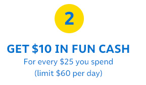FUN CASH | THE MORE YOU SPEND, THE MORE YOU EARN  YAY!