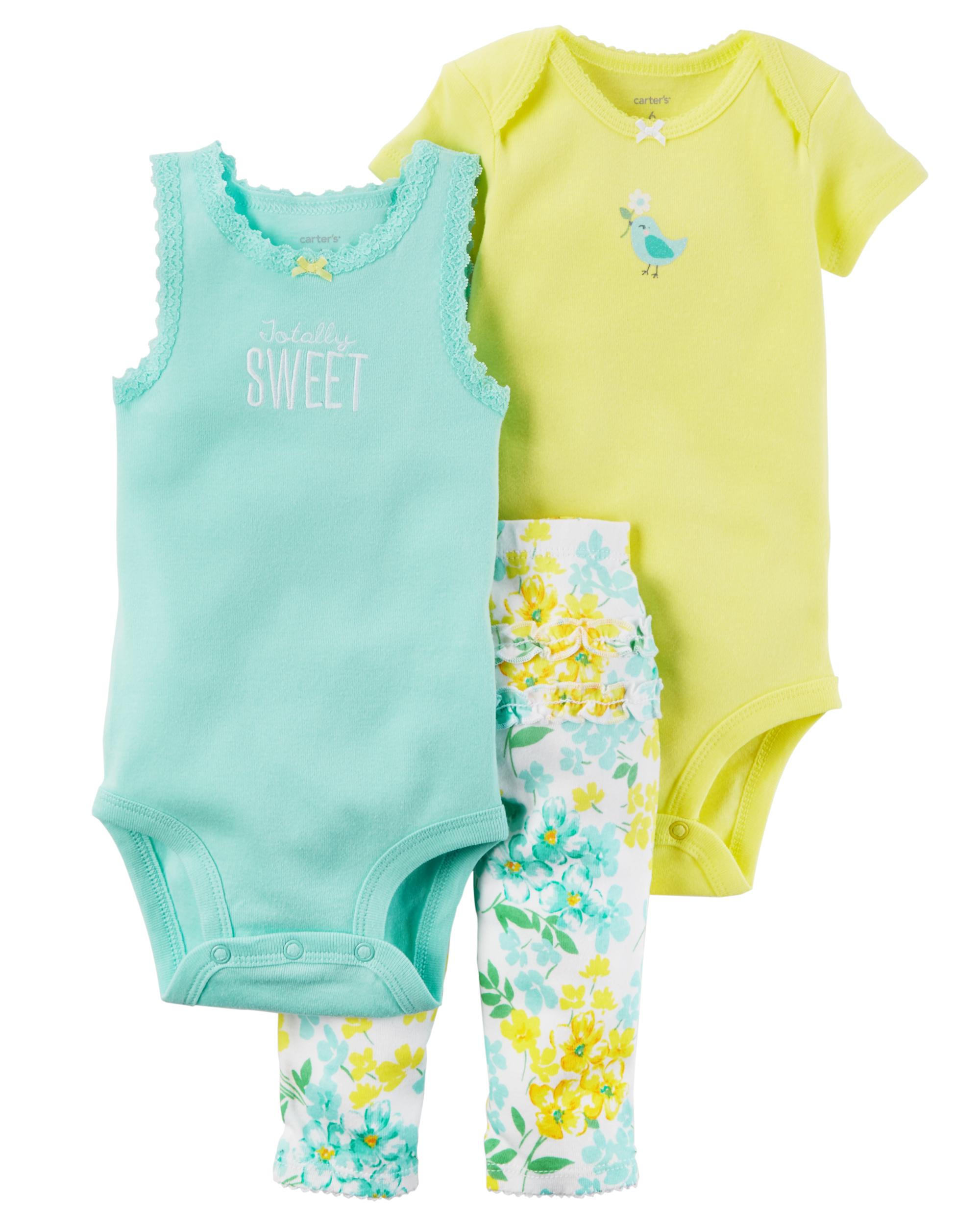 Carters Baby Girls Babysoft Bodysuit Dress