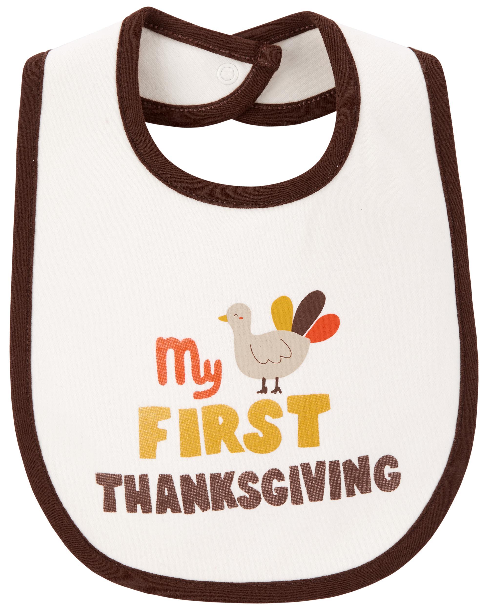 Carters First Thanksgiving Teething Bib