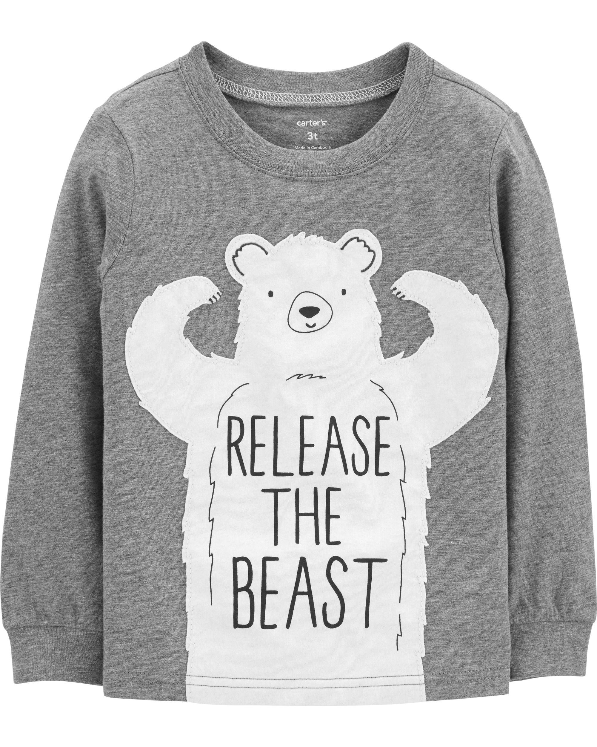 2d105445 Polar Bear Jersey Tee | carters.com