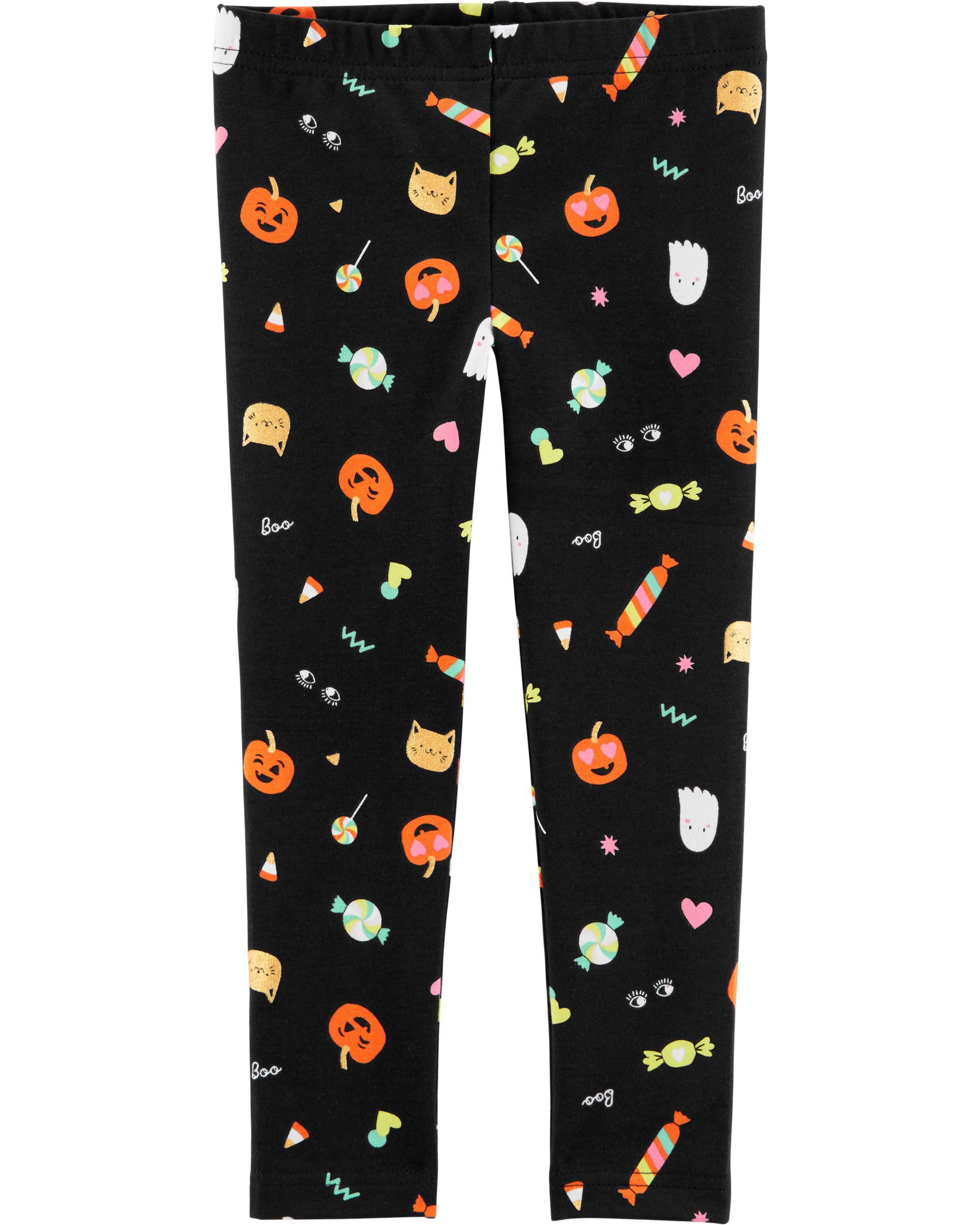 Happy Ghost Black Halloween Baby Shirt Leggings 4 Preemie and Newborn Sizes