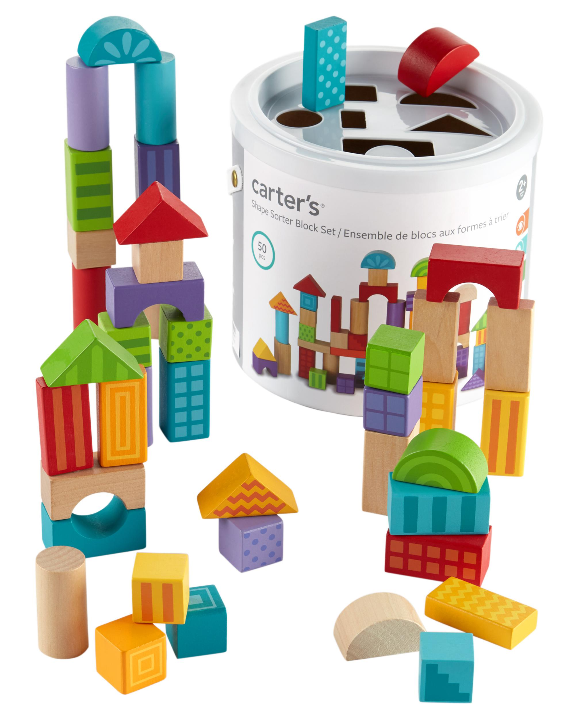 50 Piece Wooden Block Set Carterscom